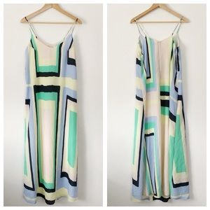 Charlie Jade geometric trapeze maxi dress sz S